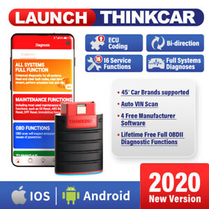 Thinkdiag Bluetooth Obd2 Scanner Car Abs Srs Bidirectional Diagnostic Scan Tool