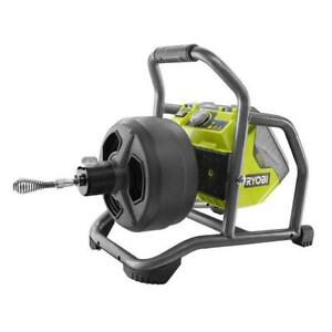 Ryobi Drain Auger Kit Adjustable Base Winding Drum Non powered Cable Feed