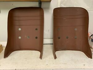 Vintage Chevy Ford Panel Bread Truck Ratrod Aviator Bucket Seat Backs Nos Pair