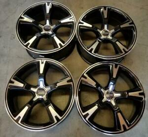 Foose Wheels Rims 20 Inch 5x114 3 Staggered Gloss Black Machine Ford Mustang