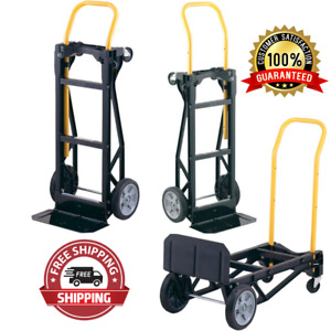 400 Lb Capacity Convertible Push Moving Dolly Trolley Nylon Dolly And Hand Truck