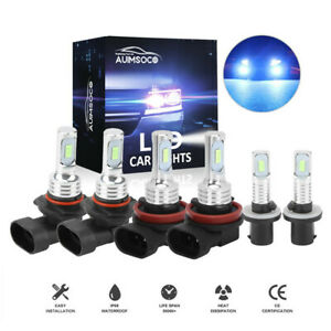 9005 9006 880 Led Headlight Fog Bulbs 8000k Ice Blue For 2001 2006 Chevy Tahoe