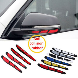 4x Red Car Door Edge Guard Strip Scratch Protector Anti Collision Trim Universal