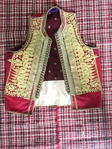 Rare Antique Islamic Ottoman Gold Threads Embroided Vest