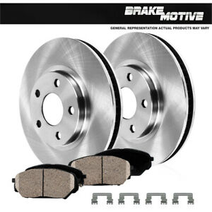 Front Brake Disc Rotors And Ceramic Pads For Ford Mustang 2011 2012 3 7l V6