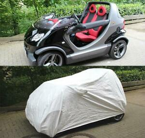 Tyvek Summer Outside Full Car Cover With Mirror Pockets For Smart Crossblade