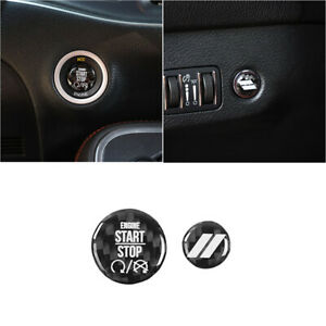 Car Engine Start Stop Switch Trunk Button Stickers Cover For Challenger Charger