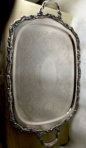 Vintage Silver Plated Webster Wilcox Footed Serving Tray