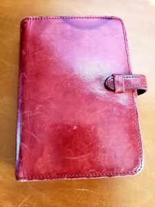 Vintage Coach Leather Planner Style organizer Red