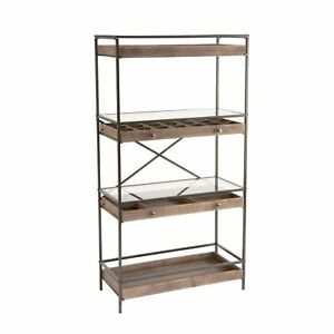 Display Shelf With Storage Drawers Brown