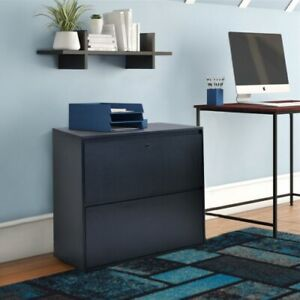 Home Office 2 drawer Lateral File Cabinet With Lock Heavy Duty Lateral File Blac