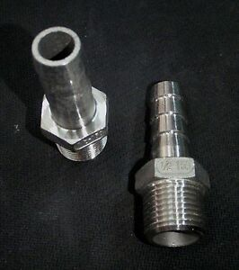 Hb050050 Stainless Steel Hose Barb 1 2 Npt Pipe 1 2 Hose