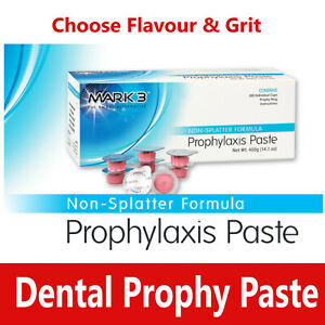 Dental Prophy Paste 200 Cups Prophylaxis Non Splatter Mark3 All Types Flavours
