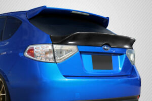 Carbon Creations Msr Rear Wing Spoiler For 08 10 Impreza 08 11 Impreza Wrx 5dr