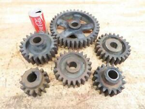 Antique Cast Iron Industrial Machine Age Gears Cogs Steampunk Art 4 To 10
