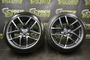 2016 370z Nismo Wheels Rims Tires Rays Forged 19x9 5 Front Pair Oem Good Tires