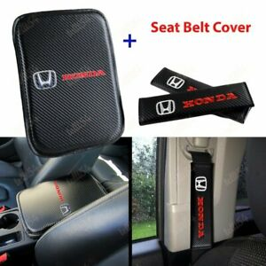 For New Honda Racing Car Center Console Armrest Cushion Mat Pad Cover Combo Set