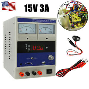 15v 3a Adjustable Digital Regulated Dc Power Supply Laptop Mobile Phone Repair
