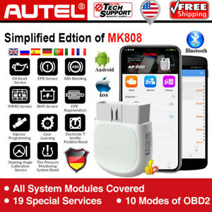 New Autel Maxisys Ap200 Mk808bt Diagnostic Scan Tool All System Key Programming