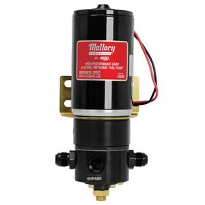 Mallory 29268 Racing Electric Fuel Pump 250 Gph Alcohol Methanol 3 4 In 16 8an