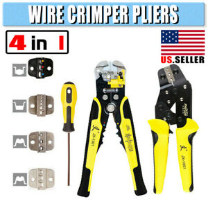4 In 1 Pro Hcs Ratchet Terminal Wire Crimper Crimping Pliers 26 16awg Tool