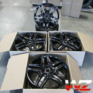 22x10 Black Wheels Fit Mercedes Gl550 R350 Ml350 Ml500 Ml550 5x112 22 Rims Set