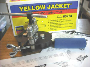 Yellow Jacket 60278 Deluxe Flaring Tool 1 8 Tom 3 4 O d