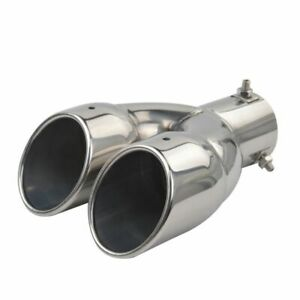 2 5 Inlet Dual 3 Outlet 8 1 Long Stainless Steel Dual Wall Slant Tip Exhaust