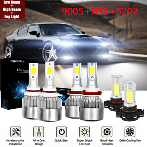 Fit For Dodge Charger 2011 2012 2013 2014 Led Headlight Hi Lo Fog Light Bulbs