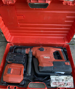 Hilti Te 60 a36 Hammer Drill W 2 36v Batteries Charger And Case Nice