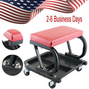 Rolling Creeper Seat Mechanic Stool Chair Garage Work Shop Tools Storage Usa