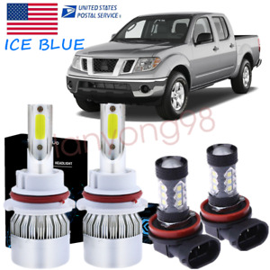 Ice Blue 9007 Led Headlight Hi low Beam h11 Fog Light Bulbs For Nissan Frontier