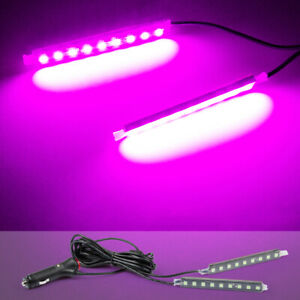 2pcs Led Purple Cigarette Lighter Car Interior Floor Atmosphere Light Lsmp Strip
