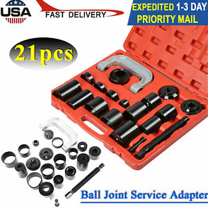 21pcs Ball Joint Service Adapter Tool Set U joint Removal For Car Light Truck Us