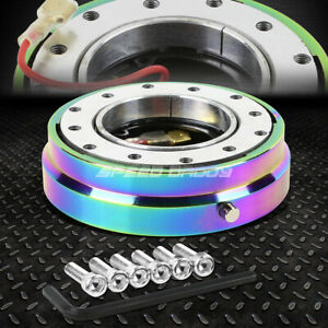 6 Hole Steering Wheel 1 Click Pin Short Quick Release Hub Adapter Kit Neo Chrome