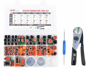368pcs Deutsch Dt Connector Kit Solid Contacts With Act m202 Crimper 12 22 Awg