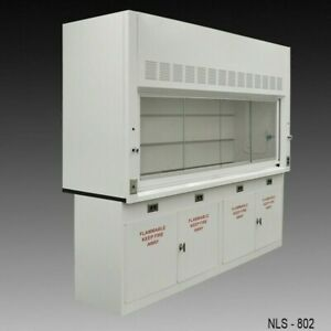 8ft Fisher American Chemical Fume Hood W 2 X Flammable Storage Valves E1 287