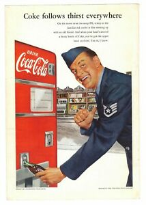 1952 Coke U.S. Air Force Soldier Coca Cola ad *Free Shipping**