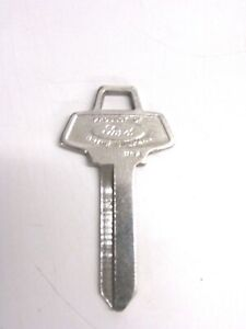 Vintage Ford Uncut Key Blank Ignition 1960 70 S