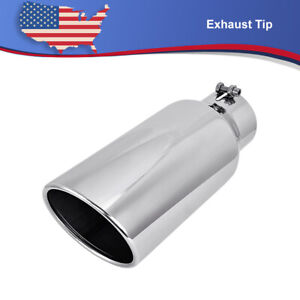 Diesel Stainless Steel Exhaust Tip Bolt On 4 Inlet 6 Outlet 15 Length