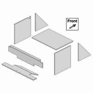 K M Pre cut Cab Foam Kit For Oliver White Tractors Model 4128