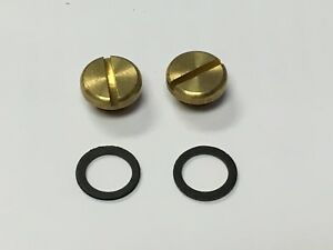 2 Pack Holley Carburetor 26 13 Brass Fuel Bowl Sight Plug Gaskets