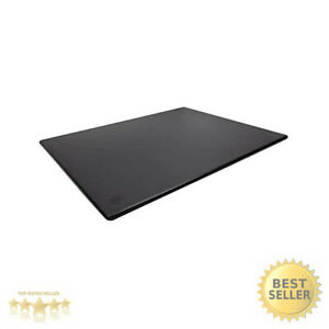 Commercial Plastic Cutting Board NSF Extra Large - 24 x 18 x 0.5 Inch Black $37.98