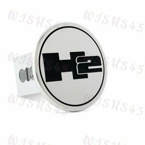 Stainless Steel Hitch Cover Cap For 2 Trailer Receiver For Hummer H2 Logo Chrom