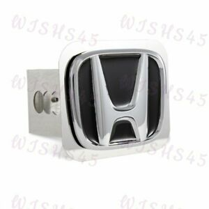 Polished Stainless Steel Black For Honda Hitch Cover For 2 Trailer Tow Receiver