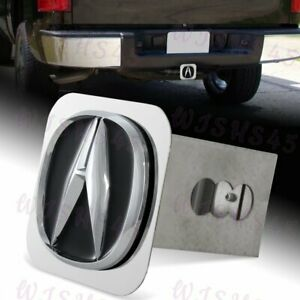 Black Polished Stainless Steel Hitch Cover For Acura For 2 Trailer Tow Receiver
