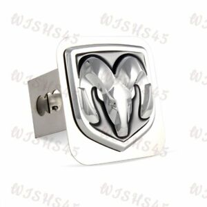 3d Logo Chrome Stainless Steel Hitch Cover For Dodge Ram For 2 Trailer Receiver