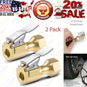Astroai Air Chuck Closed Flow Lock On Tire Chuck For Inflator Gauge Compressor