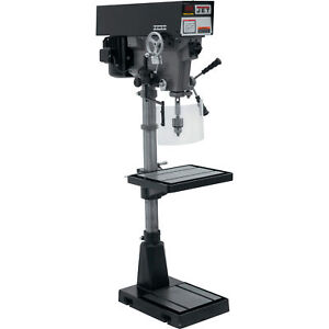 Jet Variable Speed Floor Drill Press 15in 1 Hp 230 460v 3 phase Model J a5818