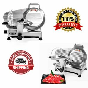 Electric Meat Slicer Cutter 10 In Stainless Steel 240 watts Semi automatic New